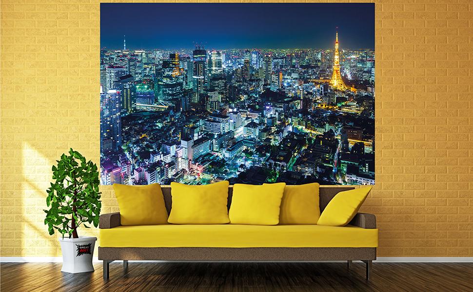 Tokyo Japan Never Asleep night lights Canvas Art Cheap Wall Print Large Any Size