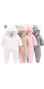 baby coat winter coat jumpsuit outfits newborn girls gift christmas clothes cute hooded coat