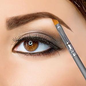 Angle Thinner Mascara Clump Removal eyes slant shadow tapered vegan brushed bent crease tint shader