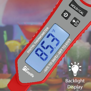 large LCD screen candy food thermometer