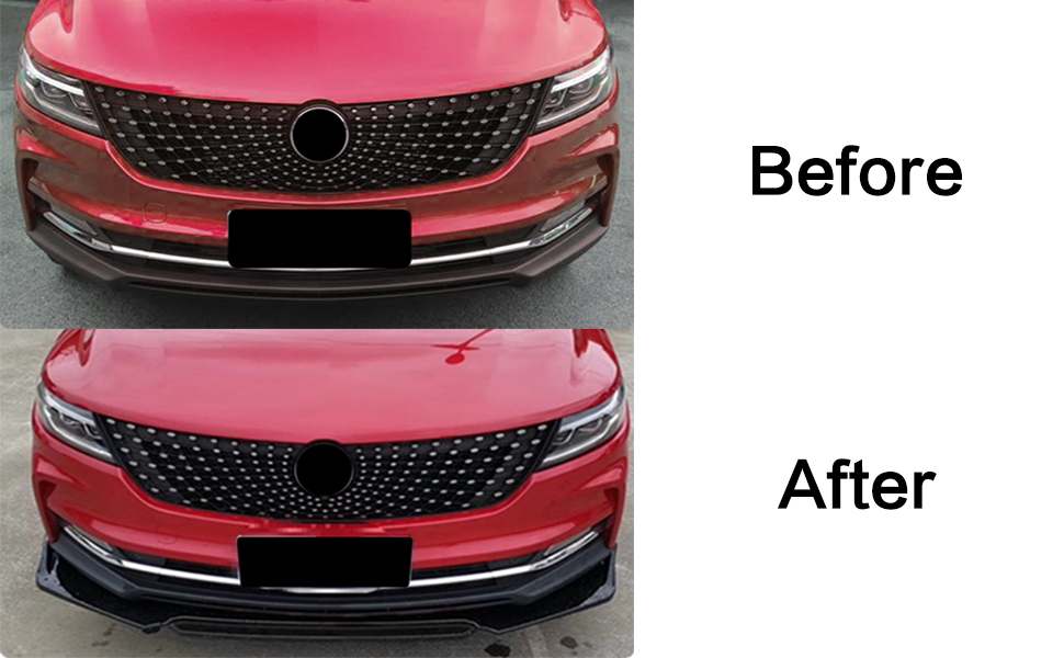 Universal Front Bumper Lip Auto Chin Spoiler Trim Protection