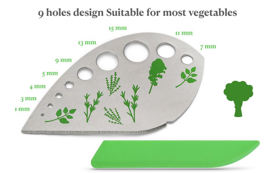 9 holes design