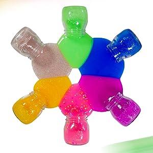 Rainbow wheel of slime