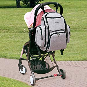 Diaper Backpack with Stroller Straps