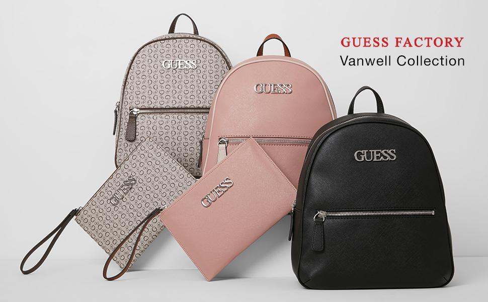Amazon Com Guess Factory Women S Vanwell Logo Emblem Backpack Shoes