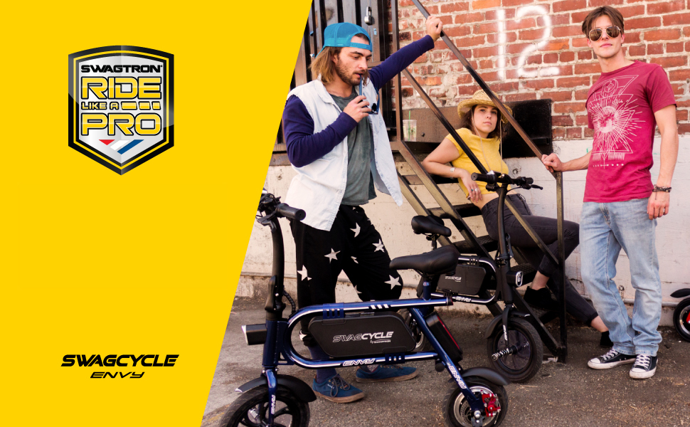 Swagtron 200W SWAGCYCLE Envy Steel Frame Folding Electric Bicycle e Bike