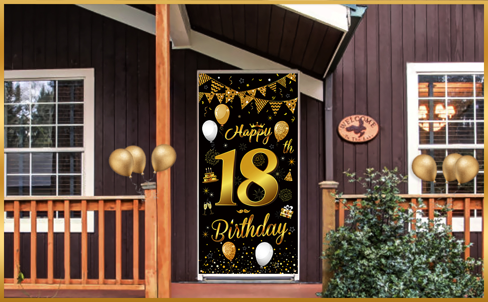 18 birthday banner