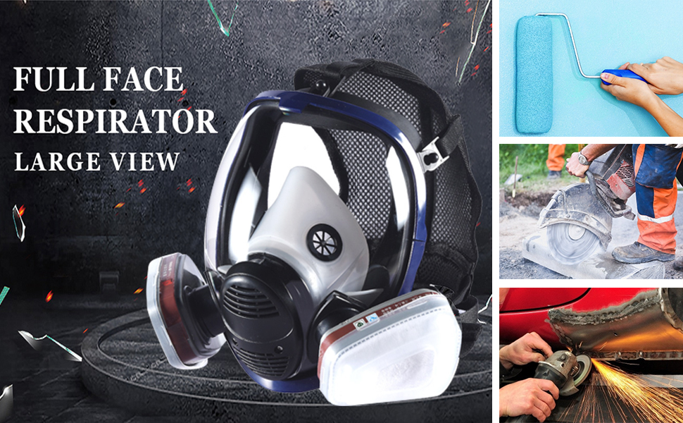 full face respirator large view
