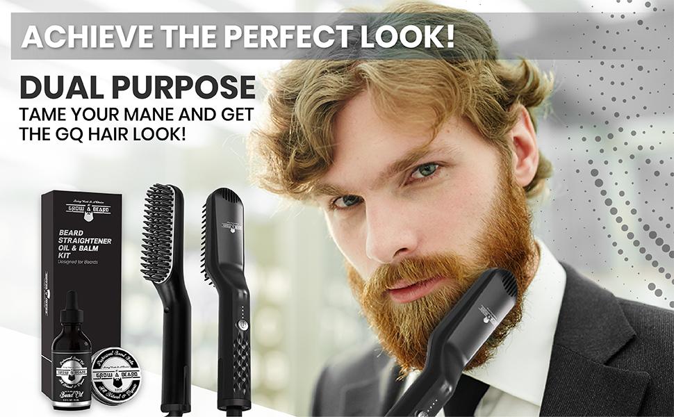 beard straightener for men, beard straightener comb, beard straightener, beard iron, comb heated