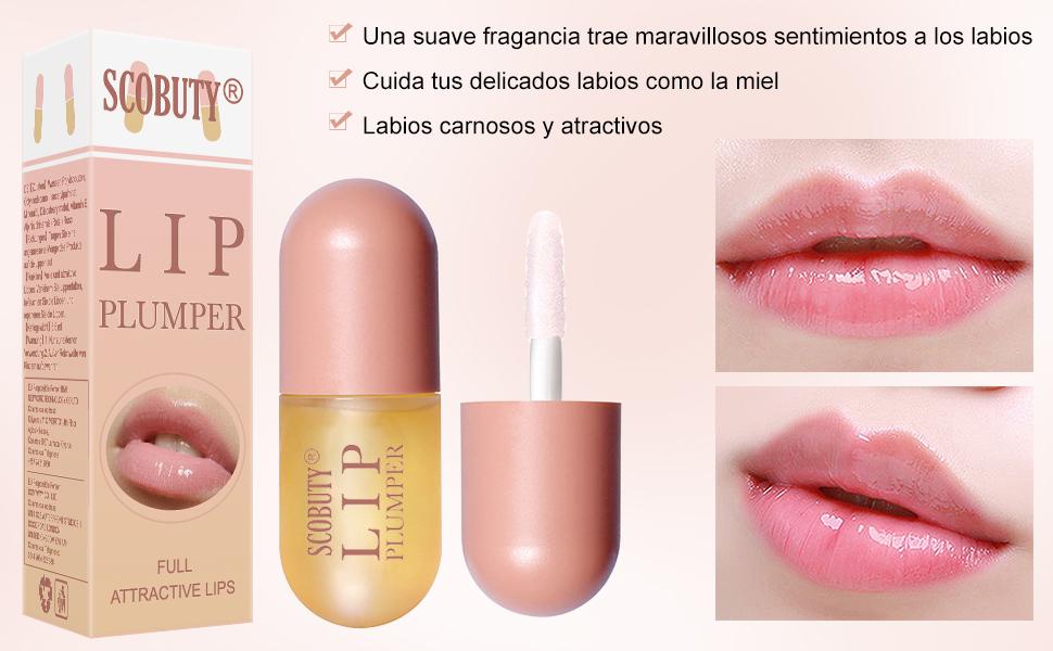 Bálsamo de labios,Lip Balm,Lip Gloss,Labios Bálsamos,Lip Enhancer Care Serum para rellenar los labios hidratantes