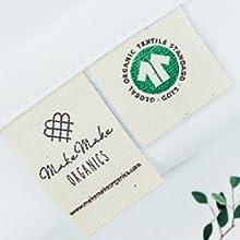 Organic cotton pillow protector pillowcase zippered standard king queen toddler youth