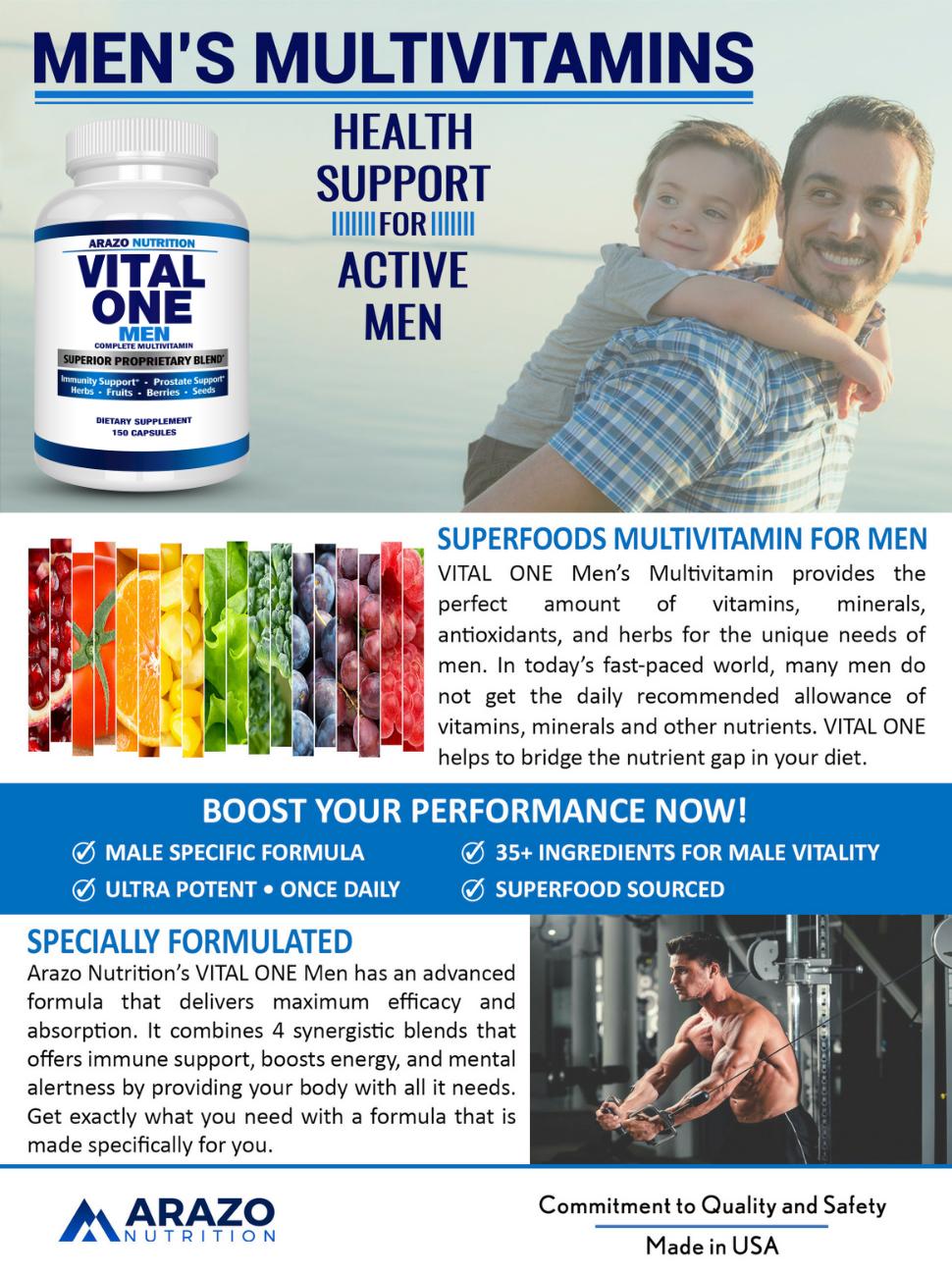 VITAL ONE Multivitamin for Men