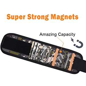 magnetic wristband for screws
