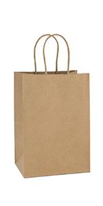 """BagDream 5.25x3.75x8"""" Brown Paper Bags 100PCS"""