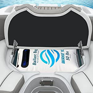 WAKE 10 Boat Ballast Bag - Portable and Pumpless - 50 lb. - Wakesurfing and Wakeboarding