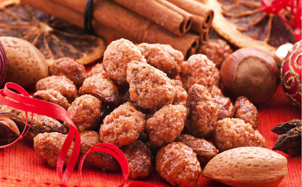 Gebrannte Mandeln Nüsse Kerne Geschenk für Oma