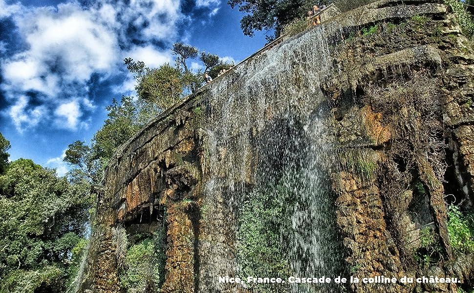 De watervallen van de heuvel van Nizza.