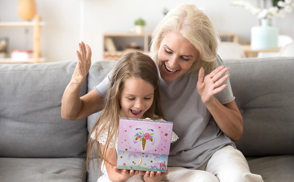 unicorn jewelry box for little girl gift keepsake memory jewelkeeper