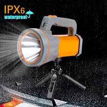 IPX6 Waterproof Spotlight Flashlight,Mount on Tripod