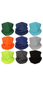 Neck Gaiter Bandana Headwear Face Mask Scarf Neck Tube Magic Headband Sports Fan Masks Breathab