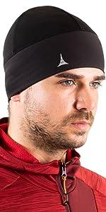 skull cap beanie helmet liner for sports ski snowboard running workout with fleece