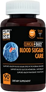Studio image of Clinical Daily Blood Sugar Care Supplement Bottle