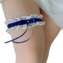 navy garters for bride