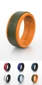 RinfitAir Orange amp; Green 2 Layers Rubber Rings