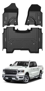 loor Mats custom fit for 2019 2020 Ram Pickup 1500