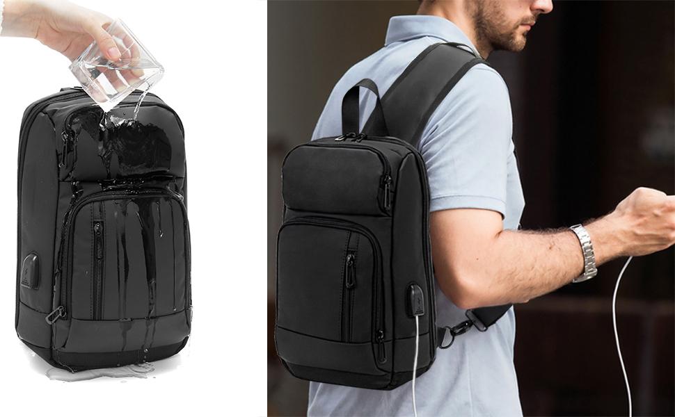 sling bag backpack for men women waterproof chest bag casual daypack multi purpose backpack small