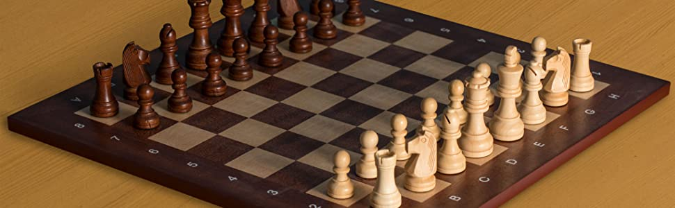 Professional Tournament Chess Board, No. 4, 16 Inches