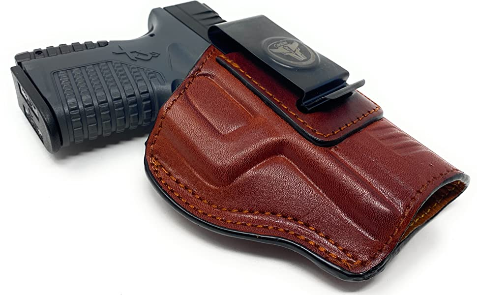 Cardini leather, Gun Holster, Leather Holster, Inside the Waistband, Outside the waistband Concealed