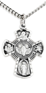 Sterling Silver Women's Four Way Cross Pendant