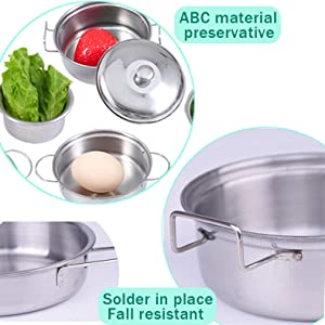 stainless steel cookware toddler
