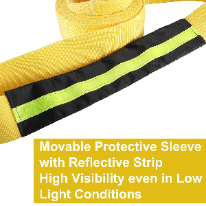 NovelBee 3quot; x 20' Heavy Duty Recovery Tow Strap,Emergency Off Road Towing Rope Protective Sleeve