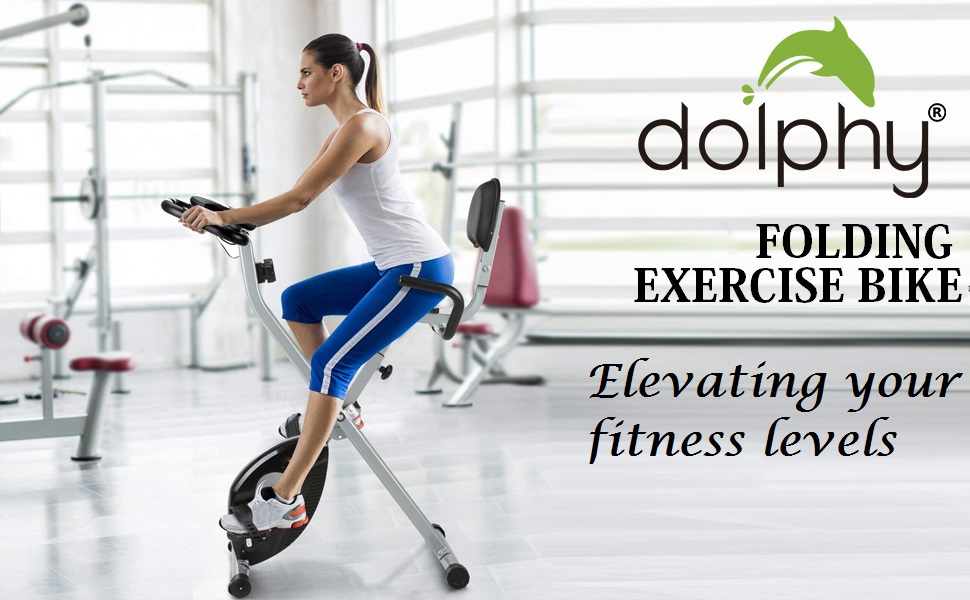 Dolphy Folding standing Exercise X desk Bike fitness Spinning Indoor Cycling for Home Gym fitnes