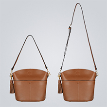 crossbody bag with 2 straps
