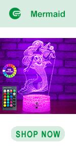 easuntec mermaid 3d led illusion lamp