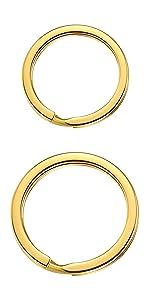 key rings golden