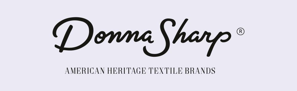 Image of Donna Sharp logo. American heritage textile brands.
