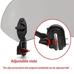 360-degree adjustable clip