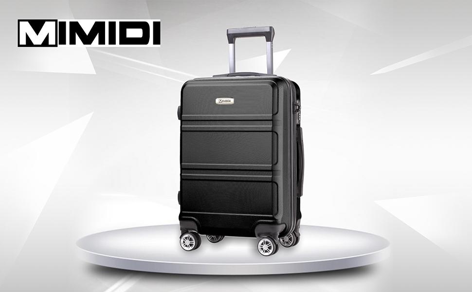 W030-2 Plastic L/&R Swivel Wheels L102xW96xD51mm for Luggage Suitcase Black