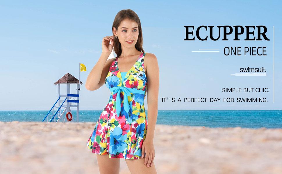 ecupper one piece swimdress