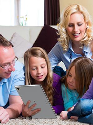 Unterhaltung mit Ihrer Familie