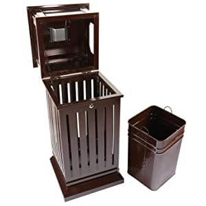 trash can with inside cabinet