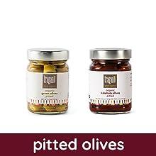 Kalamata pitted green olives Halkidiki Greece organic premium gourmet