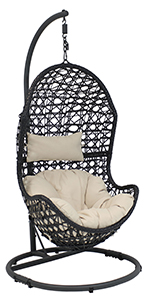Cordelia Hanging Egg Chair with Steel stand