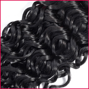 water wavy hair extensions with closure bundles human hair water wave bundles ocean wave bundles