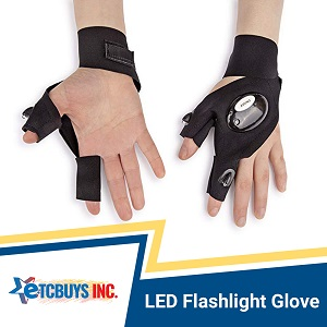 Lit Up Hand Glove Flashlight LED Light Never Drops Night Outdoor Working Tool