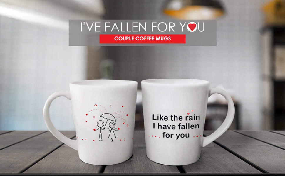 Amazon Com Boldloft I Have Fallen For You His And Hers Coffee Mugs Couple Coffee Mugs Couple Gifts Wedding Engagement Bridal Shower Anniversary For Boyfriend Girlfriend Husband Wife His And